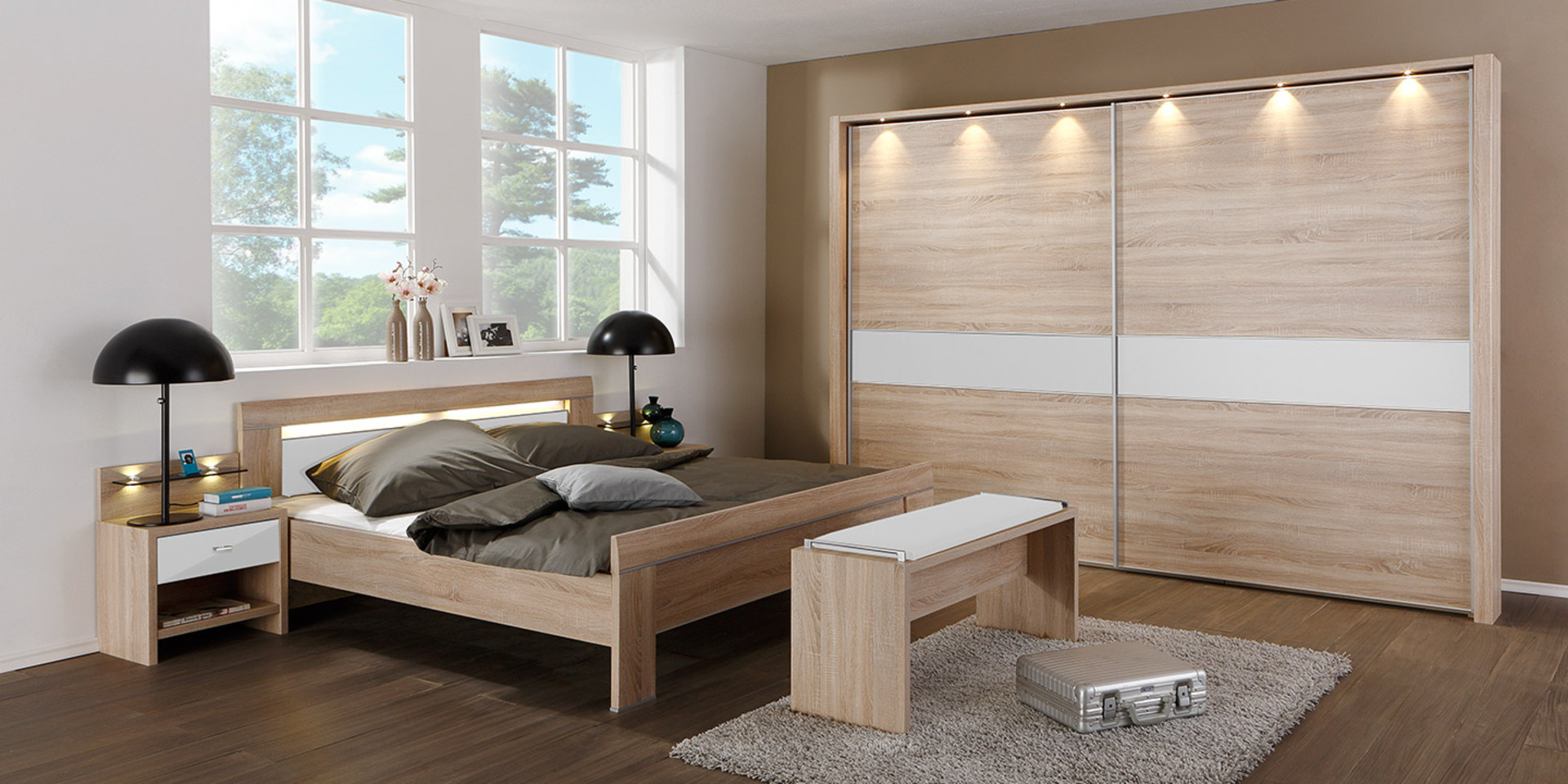 eiche modern top marvellous walnussholz holz grau eiche modern set modernes archived on. Black Bedroom Furniture Sets. Home Design Ideas