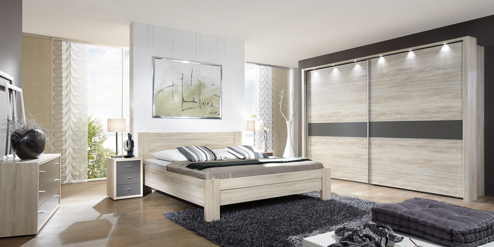 moderne wohnzimmerdecke mit holz. Black Bedroom Furniture Sets. Home Design Ideas